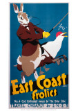 East Coast Frolics Giclée-tryk