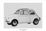 Italian Design - FIAT 500 Posters