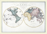 Map - Two Worlds, 1806 Prints
