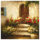 Rustic Doorway I Poster by David Lakewood