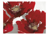 Red Poppy Forrest II Posters by Natasha Barnes