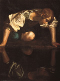 Narcissus Prints by Caravaggio 