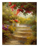 Garden Steps Posters by Calvin Stephens