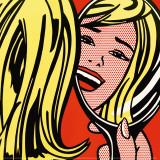 Roy Lichtenstein - Girl in Mirror, c.1963 - Reprodüksiyon
