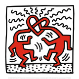 Untitled, c.1989 Pôsters por Keith Haring
