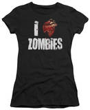 Juniors: I Bloody Heart Zombies T-shirts