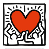 Utan titel, ca 1988 Affischer av Keith Haring