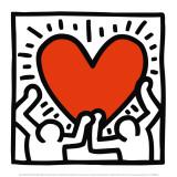 Zonder titel, ca 1988 Poster van Keith Haring