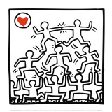 One man show, détail Posters par Keith Haring