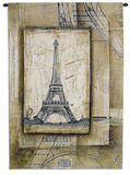 Passport to Eiffel Wall Tapestry