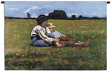 Boys in the Pasture Wall Tapestry by Winslow Homer