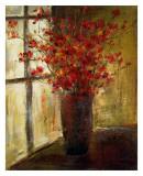 Vase of Red Flowers Affiches par Christine Stewart