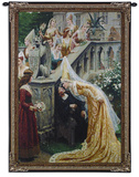 A Kiss for Alain Chartier Wall Tapestry by Edmund Blair Leighton