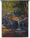 Thompson Cascade Wall Tapestry by Albert Bierstadt