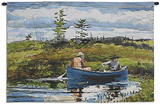 The Blue Boat Wall Tapestry by Winslow Homer
