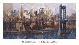 Manhattan Bridge View Print by Marti Bofarull