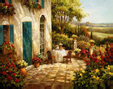 Sunny Terrace I Prints by Steven Harvey