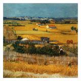 La Plaine De La Crau Avec La Ruine De Montmajour Art by Vincent van Gogh