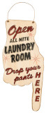 Laundry Room Finger Wood Sign