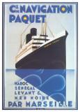 Cie De Navigation Paquet Poster