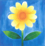 Yellow Flower With Leaves Prints by Urpina 