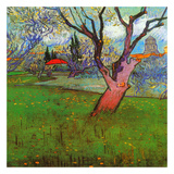 Vue d'Arles avec arbres en fleurs (Détail) 高品質プリント : フィンセント・ファン・ゴッホ