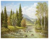 River Tisa By Rachov Posters af Helmut Glassl
