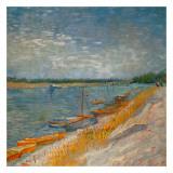 Canots Amarrés Prints by Vincent van Gogh