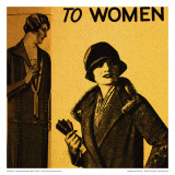 Vintage Womenwear 1925 I (Yellow) Posters by Jean-François Dupuis