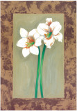 Flowers In Brown Frame IV Prints by Ferrer 