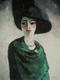 Kvinna med svart hatt Posters av Kees van Dongen