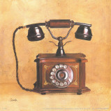 Antique Phone Poster by Conde