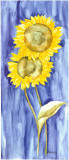 Sunflower Triptych I Posters by Evol Lo