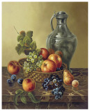 Late Autumn Fruit Basket Poster by Corrado Pila