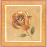 Golden Roman Rose Art by Lewman Zaid
