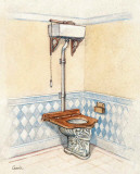 Vintage Toilet III Prints by  Conde