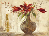 Red Lilies I - Goldfoil Posters by Anna Field