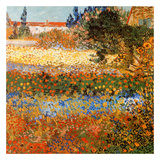 Jardin fleuri a Arles (Détail) Schilderijen van Vincent van Gogh