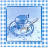 Blue Kitchen Kit II Print by  Urpina