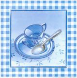 Blue Kitchen Kit II Print by  Urpina