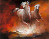 Wild Horses II Planscher av Willem Haenraets