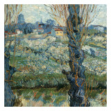 Vue D&#39;Arles Avec Vergers En Fleurs Posters par Vincent van Gogh
