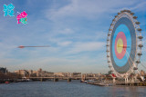 London 2012 Olympics- On Target by Tanya Chalkin Posters