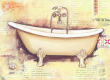 Bath Collage III Prints by  Cano