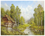 Old Mill Cottage Prints by Helmut Glassl