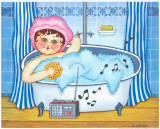 Woman Taking A Bath Poster by Urpina 