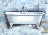 Cano - Koupelna koláž II Umělecké plakáty