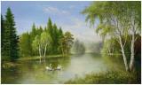 Beautiful Lake Print by Helmut Glassl