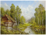 Old Mill Cottage Posters by Helmut Glassl
