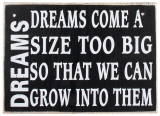Dreams Wood Sign